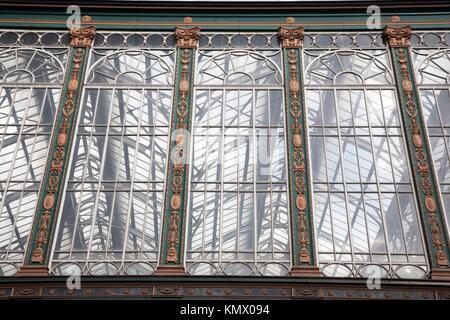 Exterior Facade of Glasgow Central Station, Scotland - Stock Photo