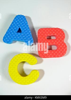 Letters made of foam - Stock Photo