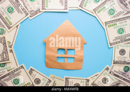 invest in real estate concept. money house and keys - Stock Photo