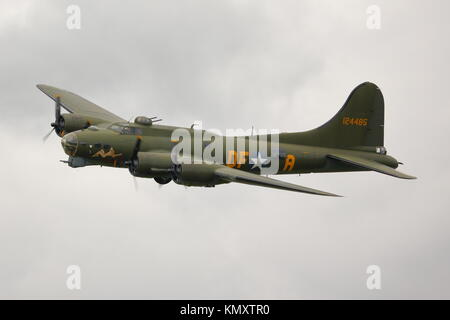 Boeing B-17 Flying Fortress at the Biggin Hill Air Show 2014, UK - Stock Photo