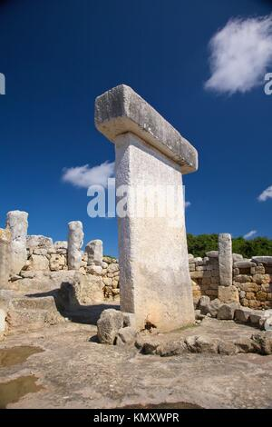 Torralba den Salord prehistoric town at Menorca Island in Spain - Stock Photo