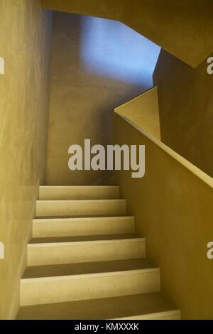 yellow design stairs and steps - Stock Photo