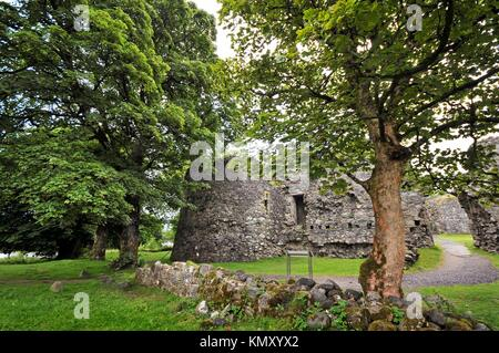 Old Inverlochy Castle, Fort William, Highlands, Scotland, United Kingdom, Europe - Stock Photo