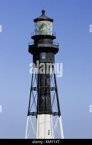 Hillsboro Lighthouse, Pompano Beach, Florida, USA - Stock Photo