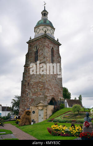 The Old Church of St Peter and St Paul with Pepperpot Belltower, Upton Upon Severn, Worcestershire - Stock Photo