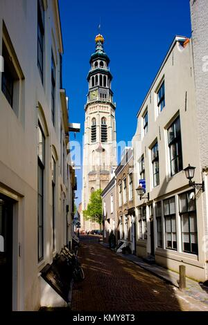 tower Lange Jan, Middelburg, Zeeland, Netherlands - Stock Photo