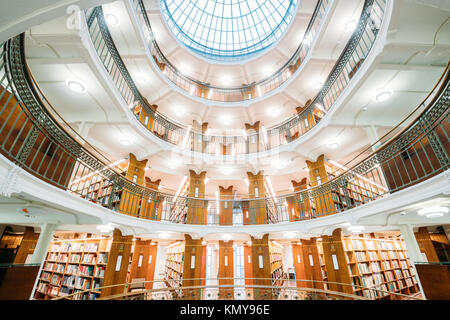 Helsinki, Finland. Interior Of The National Library Of Finland. - Stock Photo