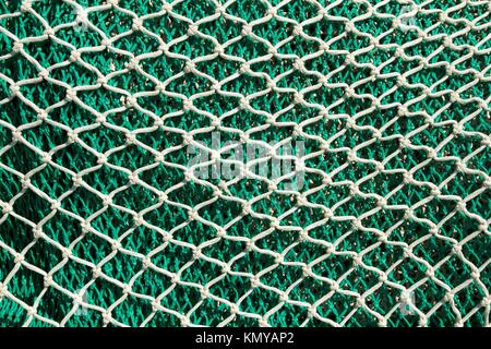 Fishing nets and tackle in Andratx port from mallorca Balearic island - Stock Photo