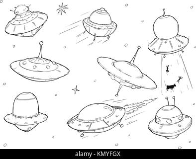 Alien Spacecraft Drawing Stock Photo 168531820