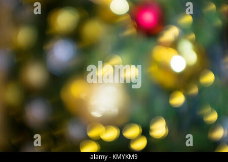 blurred and defocused abstract background of Christmas and New year theme background. - Stock Photo