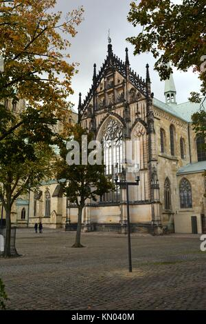 Münster Cathedral, The Cathedral Church of Saint Paul St.-Paulus-Dom, Münster, North Rhine-Westphalia, Germany - Stock Photo