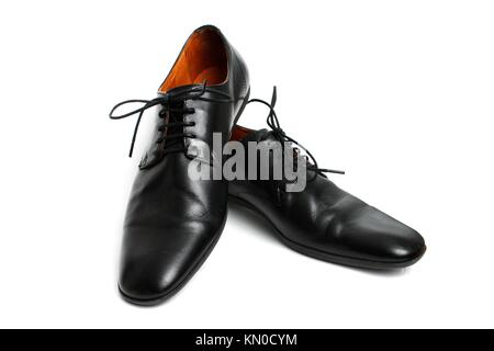 Black shoes isolated on white - Stock Photo