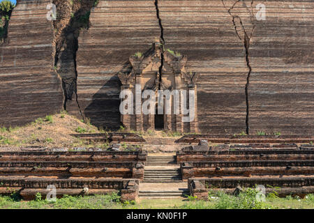 Mingun, Pahtodawgyi, Mandalay, Myanmar, Asia - Stock Photo