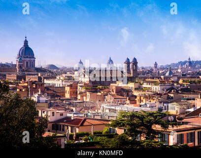 The skyline of Rome, Italy. - Stock Photo