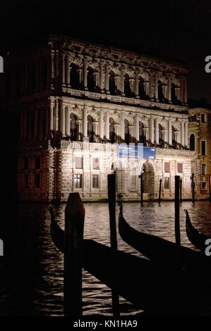 listed as World Heritage by UNESCO, San Polo district, Palazzo Ca´ Pesaro, Venice, Italy, Europe - Stock Photo