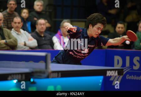 Germany. 10th Dec, 2017. Deutschland. 10th Dec, 2017. Masataka Morizono (Gruenwettersbach). GES/ Tischtennis/ 1. - Stock Photo