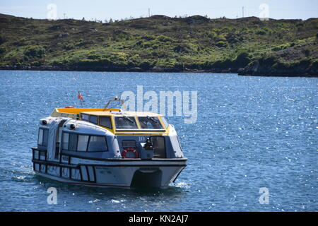 Cruise ship tender off Stornoway - Stock Photo