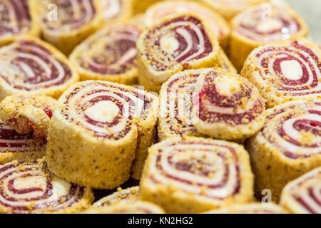Turkish delight assortment in the shop window - Stock Photo
