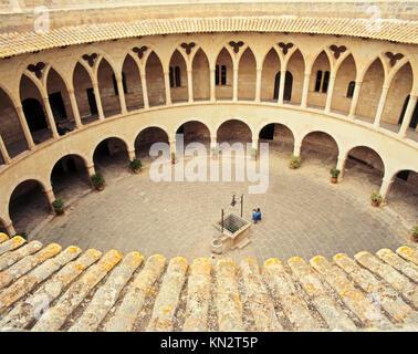 Bellver Castle, ( Castell de Bellver ), Palma, Majorca, Balearic Islands, Spain - Stock Photo