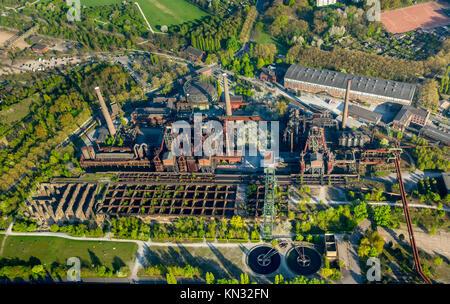Landscape Park Duisburg-Nord, diving area Gasometer Inh. Christian Patzak, Duisburg, Ruhr, Nordrhein-Westfalen, - Stock Photo