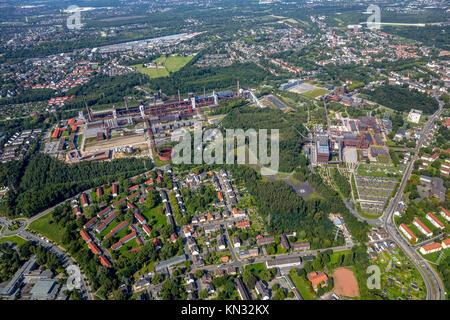 Coking plant, Zollverein World Heritage Zollverein Essen-Katerberg, Essen, Nordrhein-Westfalen, Germany, aerial - Stock Photo