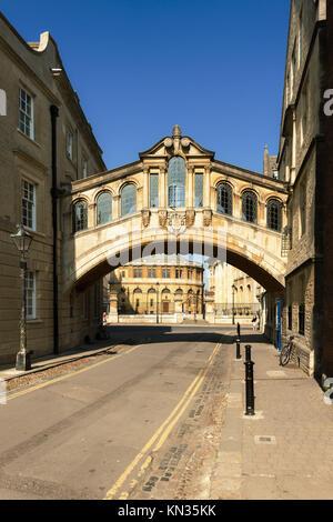 The Bridge of Sighs, Oxford, Oxfordshire, England. - Stock Photo
