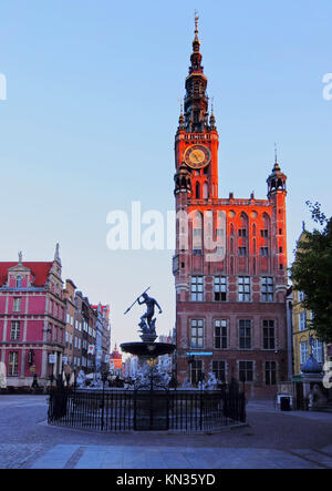 Dlugi Targ - Long Market Street in Gdansk, city in the northen Poland. - Stock Photo