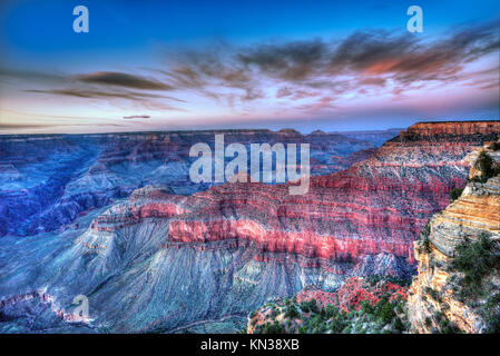 Arizona sunset Grand Canyon National Park Mother Point in USA. - Stock Photo