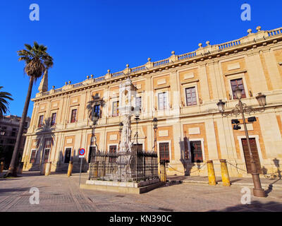 Archivo General de Indias - General Archive of the Indies in Seville, Andalusia, Spain. - Stock Photo