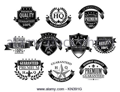 Banners and badges for retail design in retro style. - Stock Photo