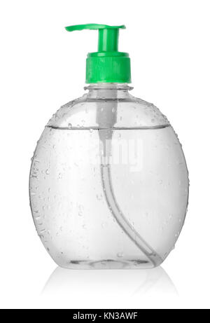 Spray bottle of water isolated on a white background. Clipping path. - Stock Photo