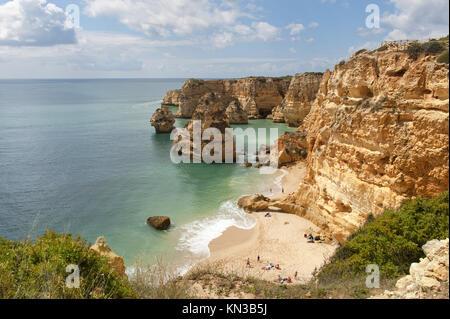 Praia da Marinha, Carvoeiro, Algarve, Portugal. - Stock Photo