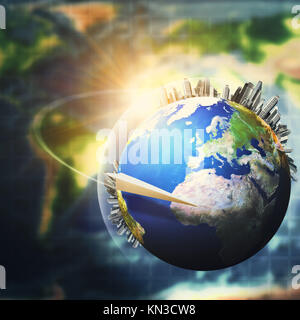 Global sustainable development concept, environmental backgrounds. - Stock Photo