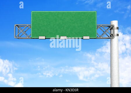 3D rendered Illustration. A empty Highway Sign. - Stock Photo