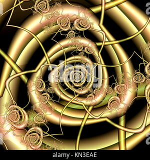 3d Illustration. Abstract pattern of a spiral form. - Stock Photo