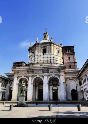 Basilica of San Lorenzo in Milan - city in Lombardy, Italy. - Stock Photo