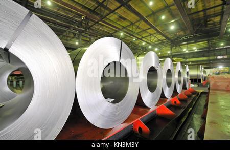 rolls of steel sheet. - Stock Photo