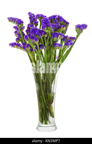 Bouquet of beautiful statice flowers on white background stock photo bouquet from statice flowers arrangement centerpiece in vase isolated on white background closeup mightylinksfo