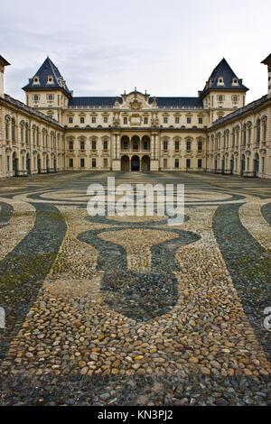 Turin castle, in Valentino park, Piemonte, north Italy. - Stock Photo