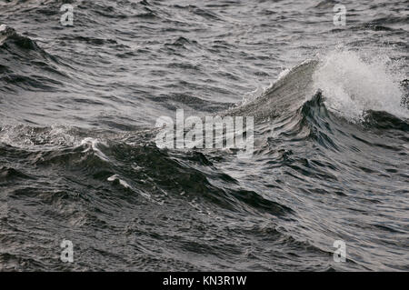 close up on waves on Baltic Sea in Gdansk, Poland. - Stock Photo