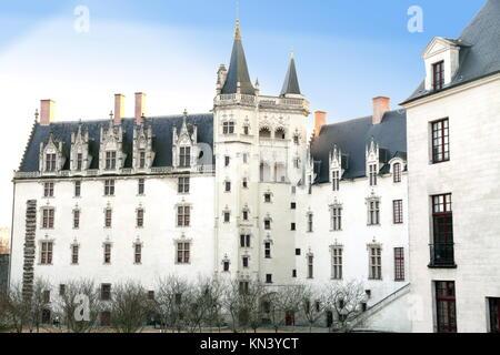 France, Loire Atlantique, Nantes, Chateau des Ducs de Bretagne Dukes of Brittany. - Stock Photo