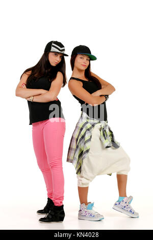 Hip hop couple posing. - Stock Photo