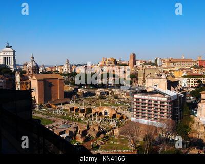 The Ancient Foro Romano - The Roman Forum in Rome, Lazio, Italy. - Stock Photo
