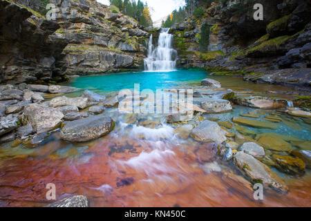 Gradas de Soaso in Arazas river Ordesa valley Pyrenees Huesca Aragon Spain. - Stock Photo