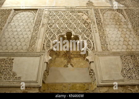 Interior view of synagogue in Cordoba, Andalusia, Spain. - Stock Photo