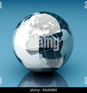 A 3d rendered Globe. - Stock Photo