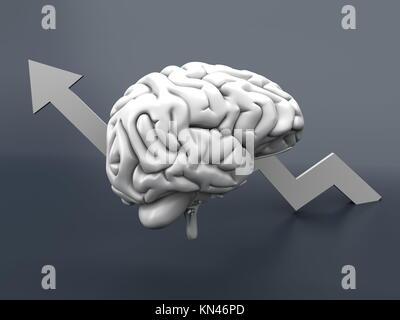 Growing intelligence. 3D Illustration. - Stock Photo