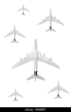 A close up shot of a die cast model plane. - Stock Photo