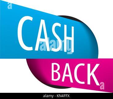 emblem cash back - Stock Photo