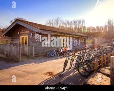 Quench cycle hire shop at Bedgebury National Pinetum and Forest on the Sussex/Kent border.